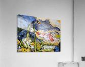 Louisiana Alligator with Wildflowers  Acrylic Print