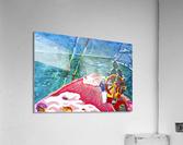 At the Wheel of The Sea Ray  Acrylic Print