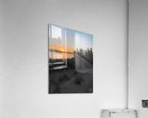 Sunset Over Lake  Acrylic Print