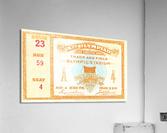 1932 Olympic Track and Field Ticket Stub Art  Acrylic Print