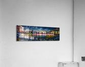 Brooklyn Cove Panorama Painting   Acrylic Print