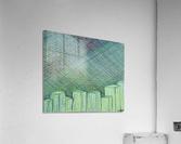 Greenblocks  Acrylic Print