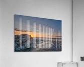 Rocks sun and water  Acrylic Print
