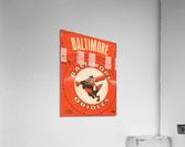 1969 Baltimore Orioles Fleer Cloth Patch Art | Row 1  Acrylic Print