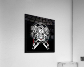 White Tiger King Tiger Art Emblem BlkBgnd by Xzendor7  Acrylic Print