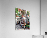 Old Wood Stove With Succulents  Acrylic Print