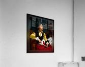 Portrait Of A Noblewoman Holding A Fan by Jan Frederik Pieter Portielje Classical Fine Art Xzendor7 Old Masters Reproductions  Acrylic Print