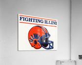 Retro Illinois Football Helmet Art  Acrylic Print