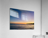 Sunset Moon - Malibu CA  Acrylic Print
