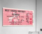 1974 West Virginia Mountaineers vs. Richmond Spiders  Acrylic Print