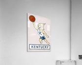 Vintage Kentucky Wildcat Basketball Art  Acrylic Print