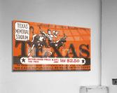 Vintage Thirties Texas Longhorn Football Ticket Remix Art  Acrylic Print