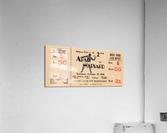 1951 Army vs. Harvard Football Ticket Art  Acrylic Print