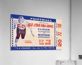 1955 Pro Bowl Football Ticket Stub Art  Acrylic Print