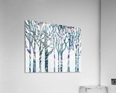 Watercolor Forest Silhouette Winter  Acrylic Print