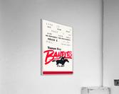 1985 Tampa Bay Bandits Ticket Stub Art  Acrylic Print