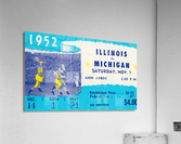 1952 Illinois vs. Michigan Football Ticket Stub Art  Acrylic Print
