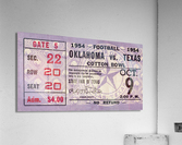 1954 Oklahoma Sooners vs. Texas Longhorns  Acrylic Print