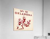 1952 Vintage Oklahoma Football Art  Acrylic Print
