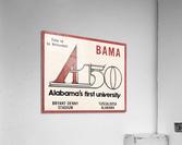 1981 Alabama Football Ticket Stub Art  Acrylic Print