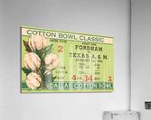 1941 Fordham vs. Texas AM Cotton Bowl Ticket Art  Acrylic Print