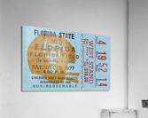 1977 Florida State vs. Florida Football Ticket Art  Acrylic Print