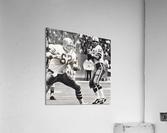 Retro Dallas Cowboys Roger Staubach Photo Art  Acrylic Print