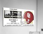 1971 USC vs. Oklahoma Football Ticket Stub Remix Art   Acrylic Print