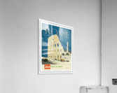 British European Airways travel poster for Rome  Acrylic Print