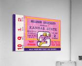 1954 Missouri Tigers vs. Kansas State Wildcats Ticket Stub Art  Acrylic Print