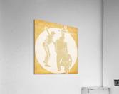 Retro Baseball Pitcher and Batter Art  Acrylic Print