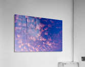 Pink and White Cotton Candy Skies over the Pacific Northwest   Abstract Expressionist Robert Stanek Original  Acrylic Print