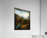 Landscape In The High Mountains by Alexander Joseph Daiwaille Classical Fine Art Xzendor7 Old Masters Reproductions  Acrylic Print