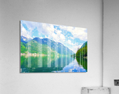 Hallstatt and Grub Castle with Beautiful Reflections in the Waters of Lake Hallstatt  Acrylic Print