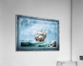 Brig Off the Maine Coast by Fitz Hugh Lane Classical Marine Fine Art Xzendor7 Old Masters Reproductions  Acrylic Print