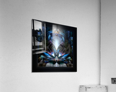 Herald The Light Fractal Wings Digital Art by Xzendor7  Acrylic Print