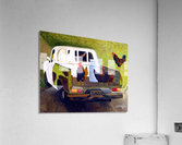 Hitching a Ride to Town  Acrylic Print