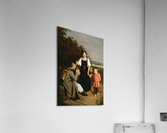 Peasant offering to a soldier a drink  Acrylic Print