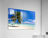 Untouched tropical beach in Maldives  Acrylic Print