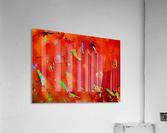 Background Abstract Leaves Seasons Orange Oranges  Acrylic Print