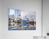 Fishing boats moored at the dock; Warrenton, Oregon, United States of America  Acrylic Print