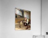 Training a small dog  Impression acrylique