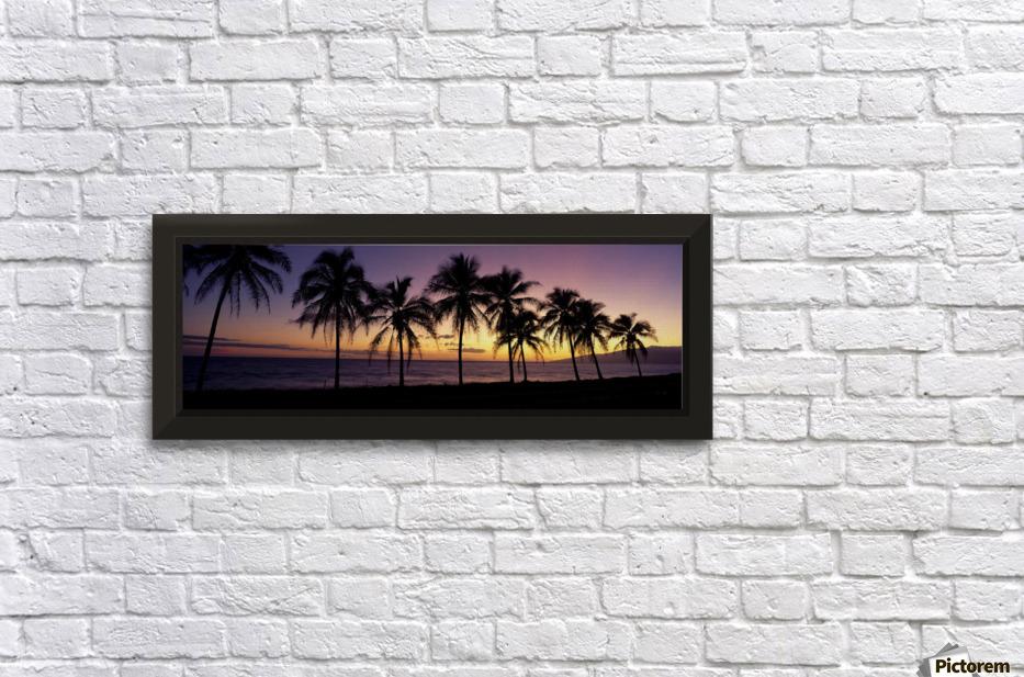 Hawaii, Maui, Dramatic Sunset Silhouette Palm Trees Lined Along ...