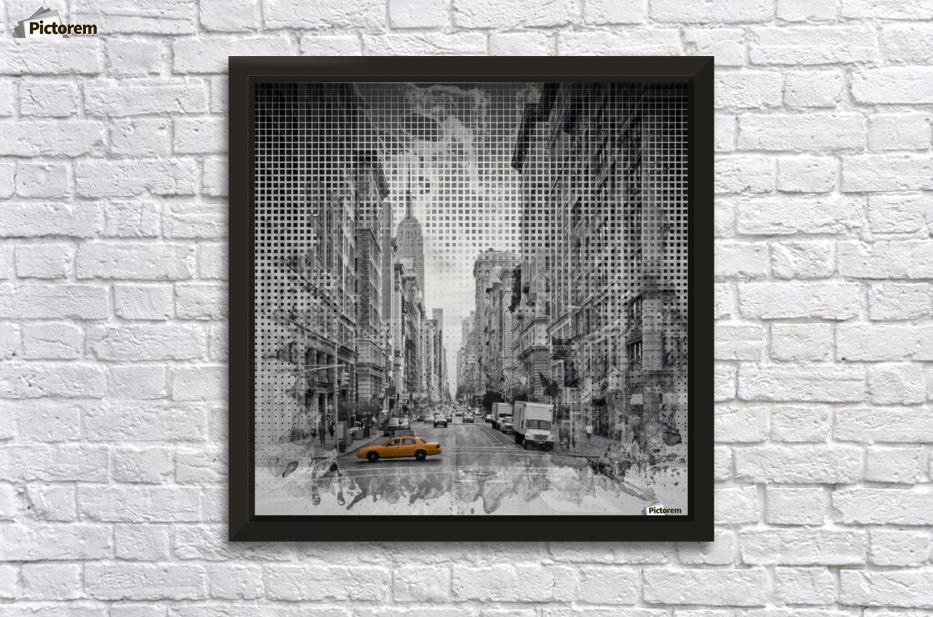 Graphic Art NEW YORK CITY 5th Avenue - Melanie Viola Canvas