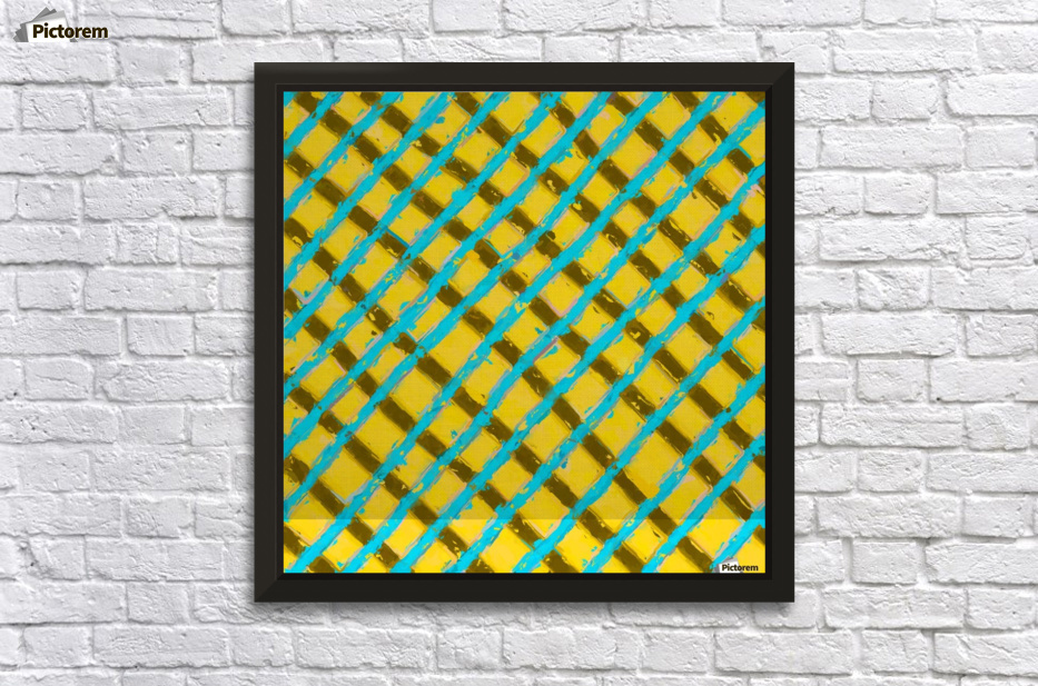 line pattern painting abstract background in yellow blue brown ...