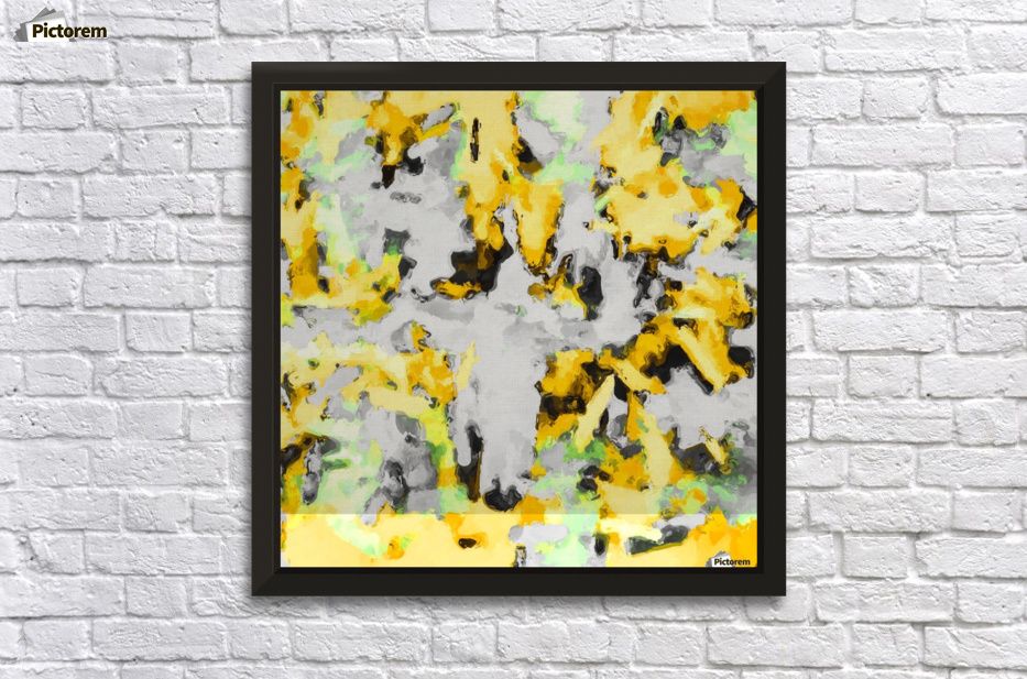 splash painting texture abstract background in yellow black green ...