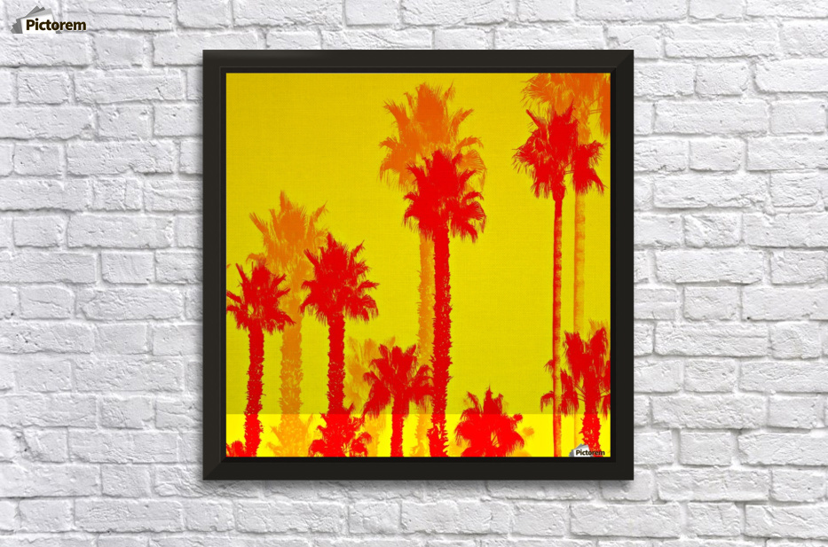 orange palm tree pattern abstract with yellow background - TimmyLA ...