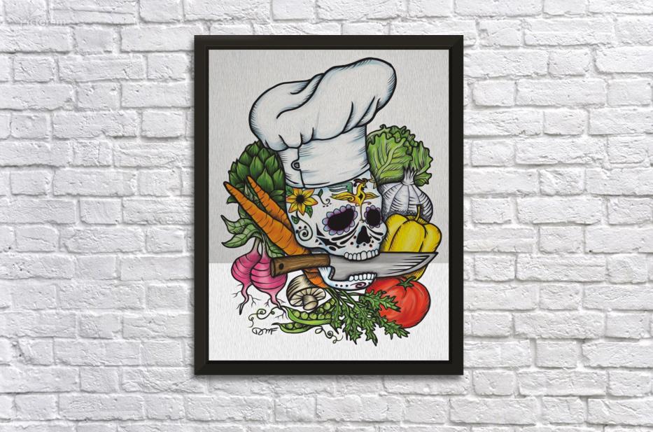 Dia de los Muertos Chef - Daniel J Fuller Canvas