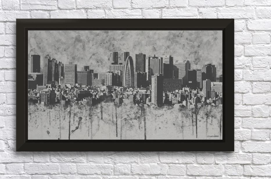 Melting City Wall Decor Frame
