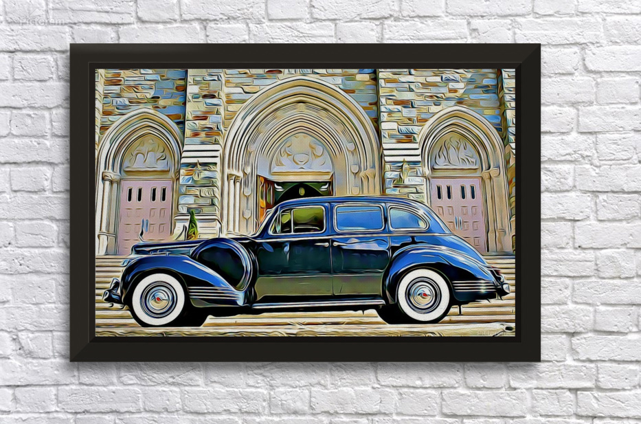 vintage car - MIRIAM - Canvas Artwork